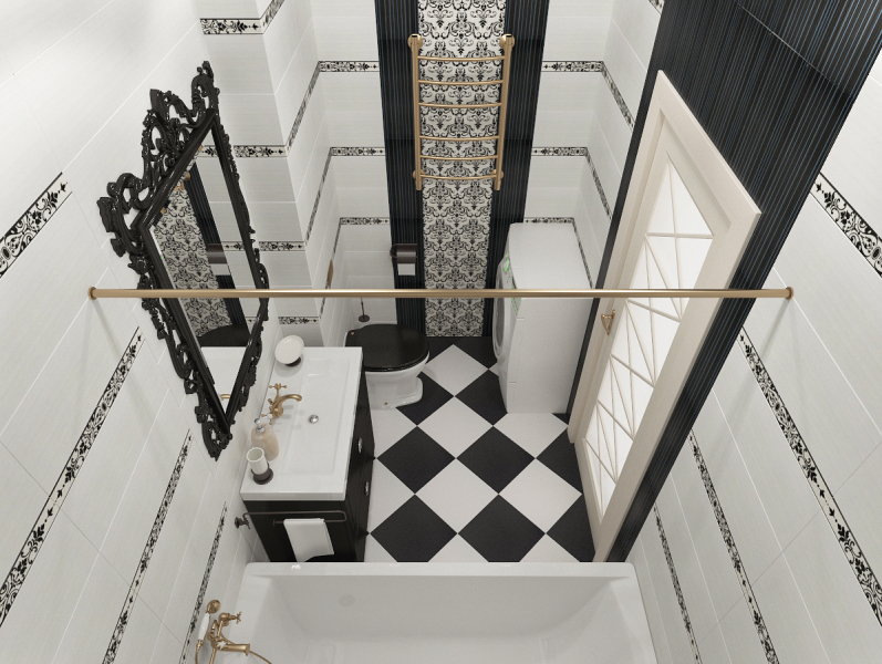 Интерьер трехкомнатной квартиры 72 кв. м.