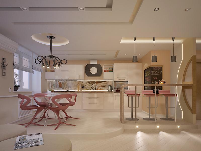 Дизайн двухуровневой квартиры 180 кв.м.
