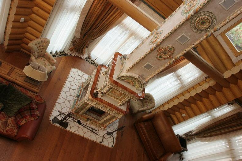Интерьер частного дома в русском стиле