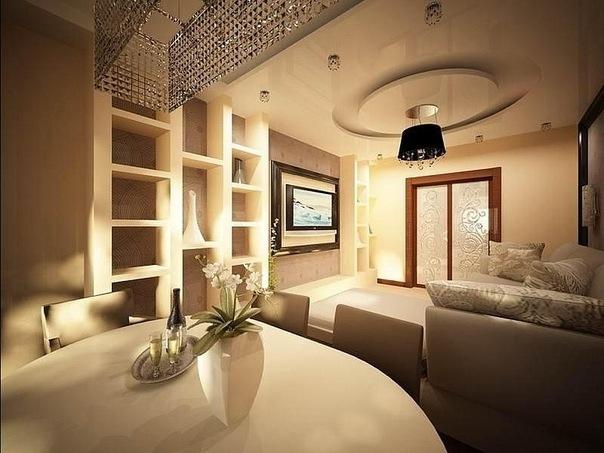 Дизайн подвесных потолков для гостиной
