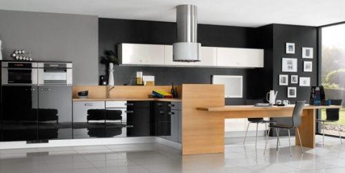 Черно-белые кухни, проекты от Mobalpa