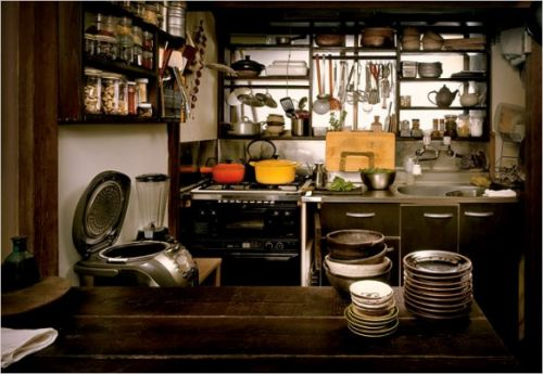 Оригинальное оформление кухни