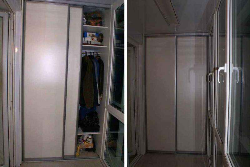 Удобный шкаф-купе на лоджии: эргономика и компактность