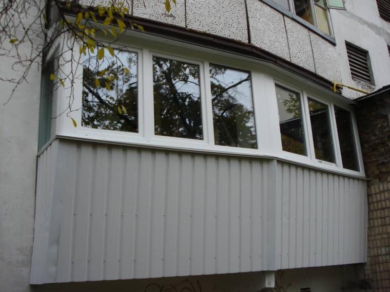 Производим остекление балкона в доме серии п-44 или п-44т